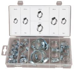 DURATOOL D01895  Hose Clip Assortment Set - 26Pc